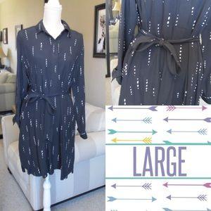 Ann Taylor Shirtdress w/ POCKETS Petite Large NWOT